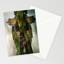 Landscape with an old castle Stationery Cards