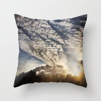 brasil Throw Pillows featuring Brasil - Leblon  by Claudia Araujo