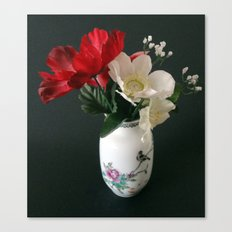 Chinese Vase with Flowers Canvas Print