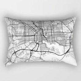 Baltimore Map White Rectangular Pillow