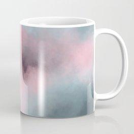 Pink, Grey / Gray & Aqua Cloudscape Coffee Mug