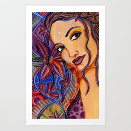 Strands of Nature (Connected) Art Print