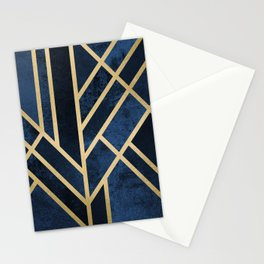 Art Deco Midnight Stationery Cards