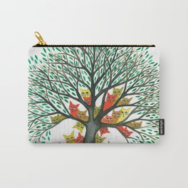 Nebraska Whimsical Cats in Tree Carry-All Pouch