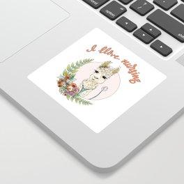 I Llove Nursing Llama Sticker