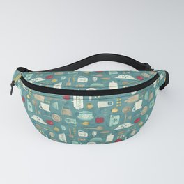 Vintage Kitchen Utensils / Teal Fanny Pack