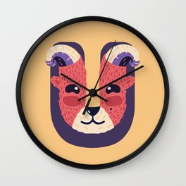 U for Urial Wall Clock