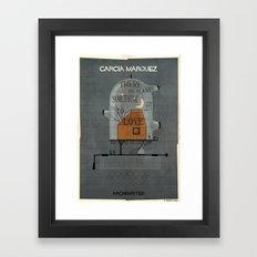 023_ARCHIWRITER_gabriel garcia marquez Framed Art Print