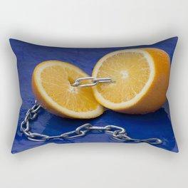 Chain Gang: Orange Rectangular Pillow