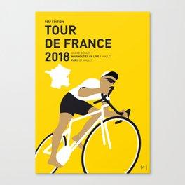 MY TOUR DE FRANCE MINIMAL POSTER 2018 Canvas Print