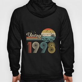 Vintage 1998 Design 22 Years Old 22Nd Birthday For Men Women Hoody