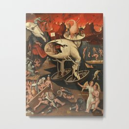 Hieronymus Bosch moral fantasy Metal Print