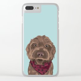 Remington the Wirehaired Pointing Griffon Clear iPhone Case