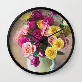 Rose Art - The Sweetest Joy Wall Clock
