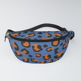 Jungle - Leopard Pattern Blue Fanny Pack