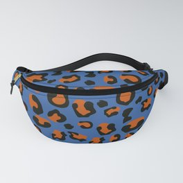 Jungle - Leopard Pattern Blue Fanny Pack