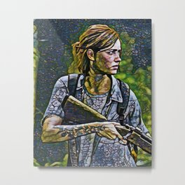 The Last of Us Ellie Artistic Illustration Infected Style Metal Print