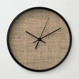 Jute Fabric Pattern Wall Clock