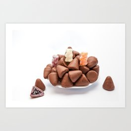 the cuberdons chocolate Art Print
