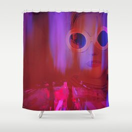 Electric City Girl Shower Curtain