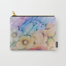 Summer fantasy with by hand drawn flowers. Carry-All Pouch