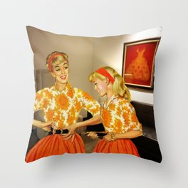 Daughter and Her Narcissistic Mother Throw Pillow