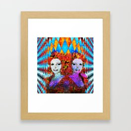 """""""Just One More Girl and a Flame Tree"""" by surrealpete Framed Art Print"""