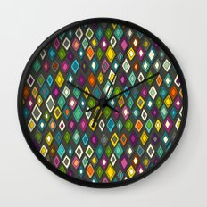 pop diamonds dark Wall Clock