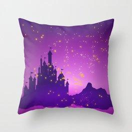 Castle with Lanterns Throw Pillow