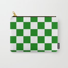 Checkered - White and Green Carry-All Pouch
