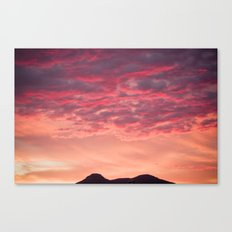 Even the sun sets in paradise Canvas Print