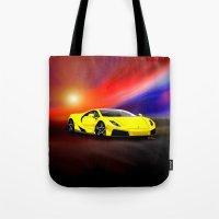 gta Tote Bags featuring Spania GTA by JT Digital Art