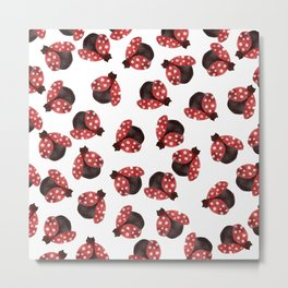 The Cuttest Ladybug Metal Print