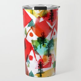 Holiday Village Travel Mug