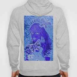 Blue Butterfly Queen Hoody