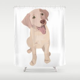 Golden (Lab) Girl Shower Curtain