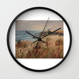 Wild coast of Croisic Wall Clock