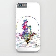 The Little Mermaid Ariel Silhouette Watercolor iPhone 6 Slim Case