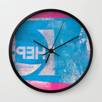 oregon Wall Clocks featuring OREGON by Dan Peterka