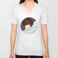 The Wings of the Dove: Violet Unisex V-Neck