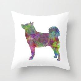 Norwegian Buhund in watercolor Throw Pillow