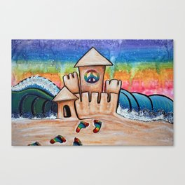 Hippie Sand Castle Canvas Print