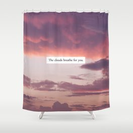 CLOUDS. Shower Curtain