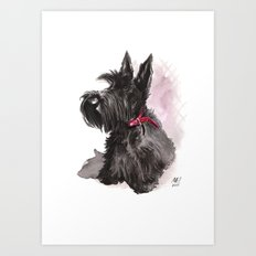 Scottish Terrier posing Art Print