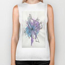 Explosion Flower Blue and Purple Biker Tank