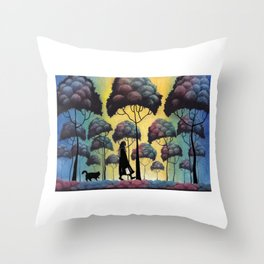 When She Was Here 9.10.2016 Throw Pillow