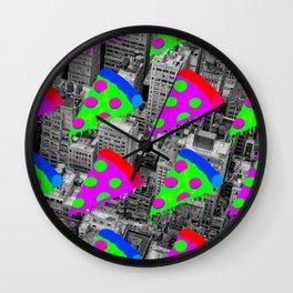 Pizza Invasion NYC Wall Clock