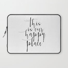 This Is Our Happy Place, Our Happy Place Print, Prints, Hand Lettered Print, Wall Art Laptop Sleeve