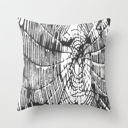 Intricate Halloween Spider Web Black Palette Throw Pillow