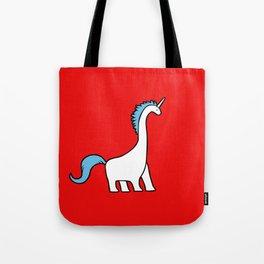 Cute Dinocorn (Unicorn Brachiosaurus) Tote Bag